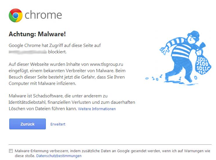 Chrome: Achtung Malware!