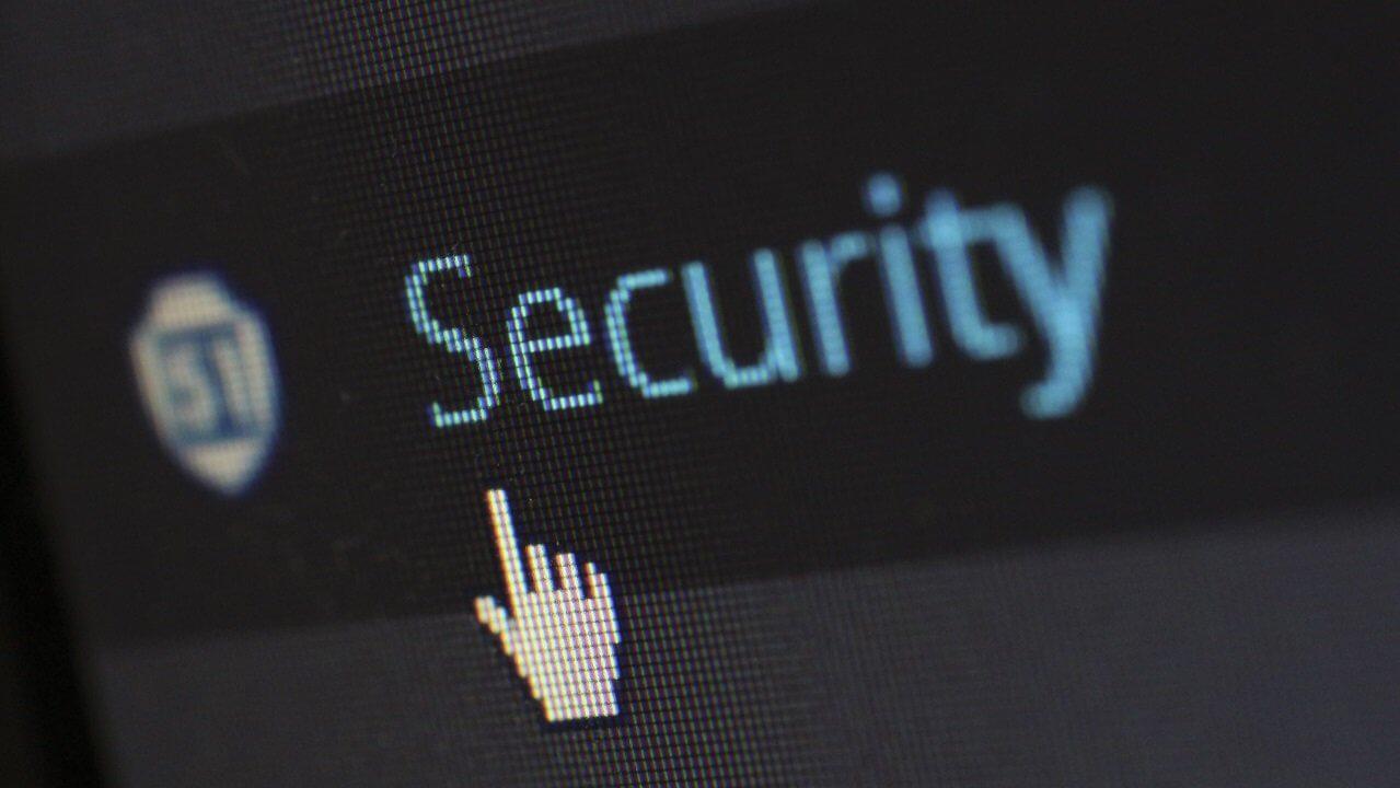 """Schriftzug """"security"""""""